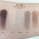 Swatches of the Wet n Wild Coloricon 5-Pan Eyeshadow Palette in 395A The Naked Truth