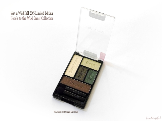 Wet n Wild ColorIcon Limited Edition Here's to the Wild Ones! Fall 2015 Collection in 34668 Girls Just Wanna Have Funds