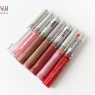 Wet n Wild MegaSlicks Lip Gloss: 561A Crystal Clear, 560A Sweet Glaze, 568 Bronze Berry, 576A Rose Gold, 577A Red Sensation, 578 Sinless, and 34480 Bloody Good