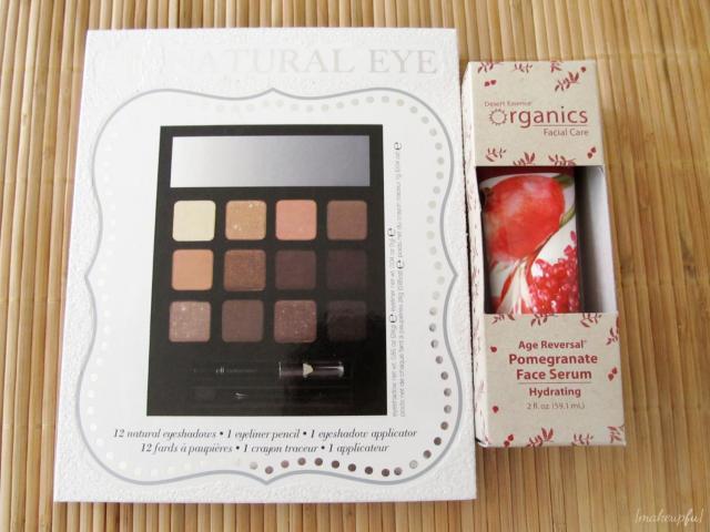 e.l.f. LE Holiday Beauty Book: Natural Eye (Winter 2012) and Desert Essence Organics Age Reversal Pomegranate Face Serum
