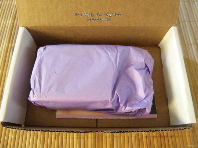 Unboxing of September's True Beauty Box {Veganista}