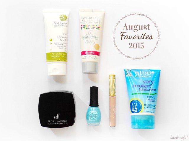 {makeupfu} Monthly Favorites: August 2015