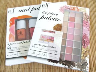 Packaging of the e.l.f. Spring Collection 2012 4 Piece Nail Polish Set & 32 Piece Palette: warm eyeshadow