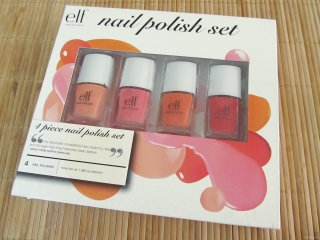 Packaging of the e.l.f. Spring Collection 2012 4 Piece Nail Polish Set