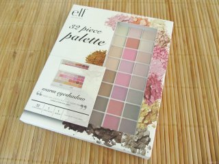 Packaging of the e.l.f. Spring Collection 2012 32 Piece Palette: warm eyeshadow
