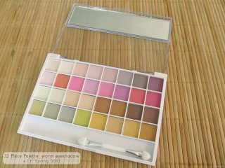 Interior of the e.l.f. Spring Collection 2012 32 Piece Palette: warm eyeshadow