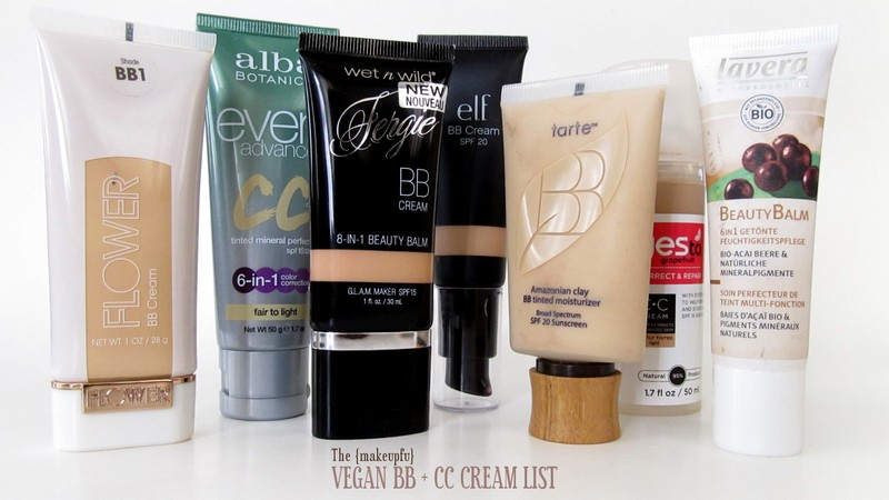 Vegan BB + CC Cream List