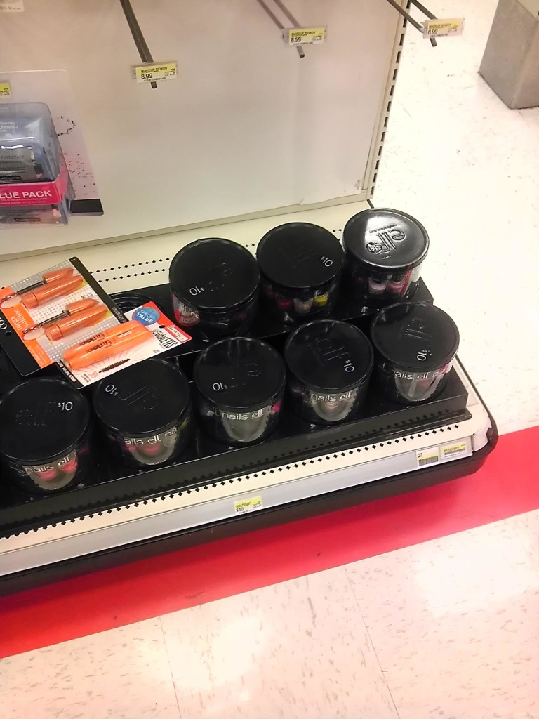 New nail polish tubs at Target