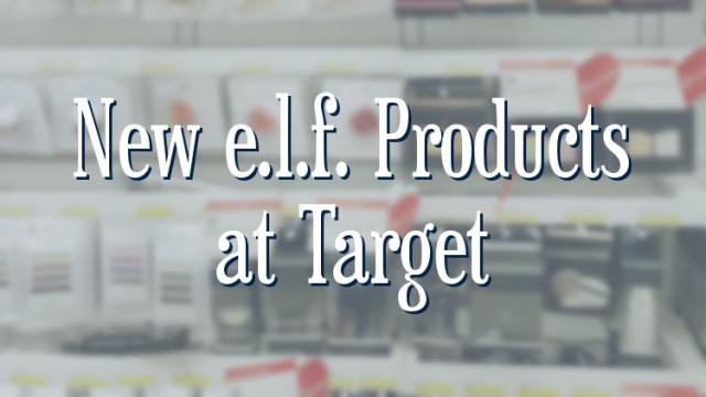 New e.l.f. Products at Target