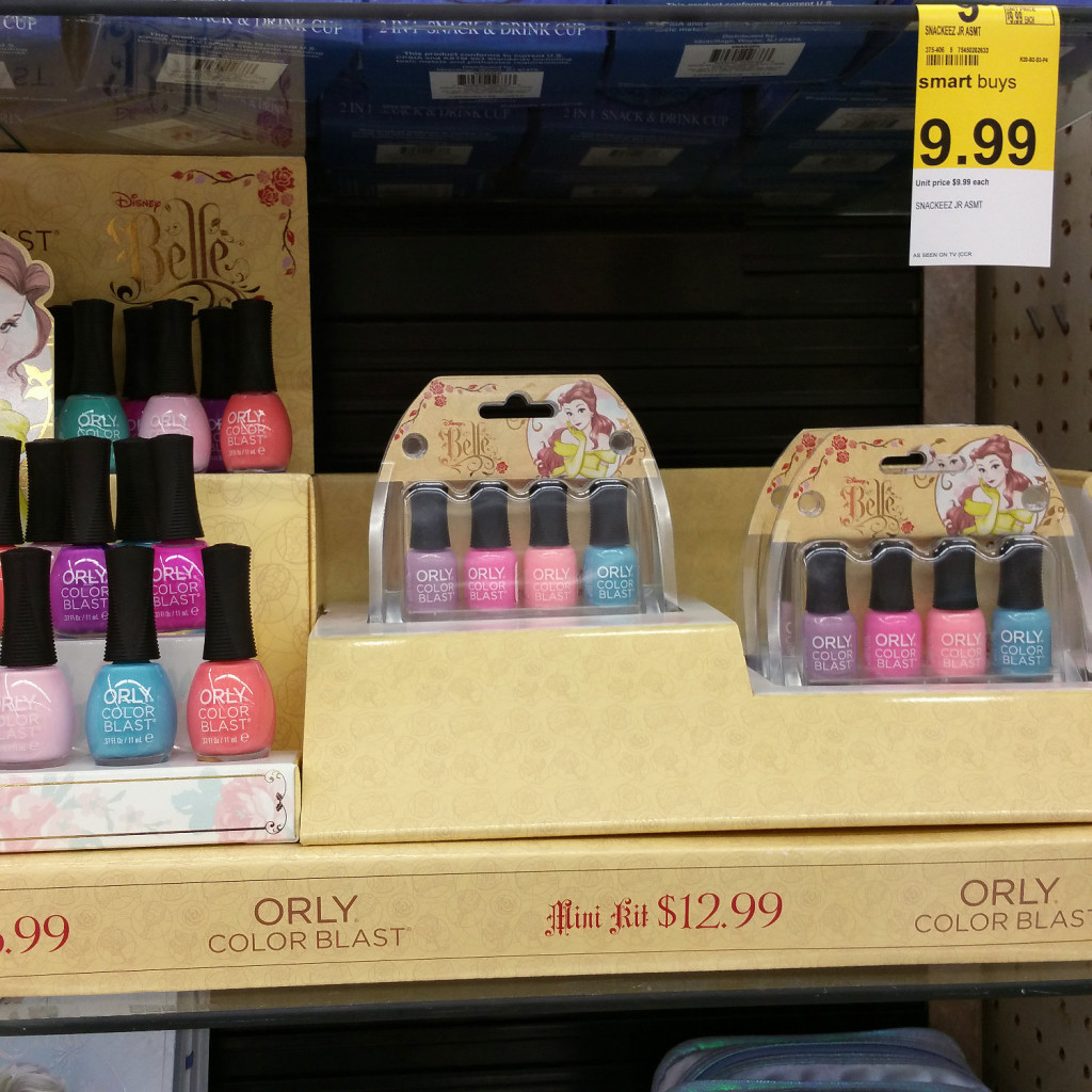 Walgreens exclusive ORLY Color Blast Nail Polish for the Disney Princess Belle Collection