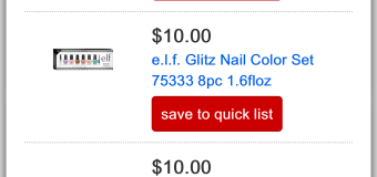 TODAY ONLY: e.l.f. Holiday Sets Sale at Target.com During Black Friday 2015 Preview Sale [ENDED]