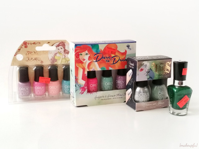 Walgreens clearance haul: ORLY Disney Princess/Villains sets and Wet n Wild Halloween 2015 Collection polish