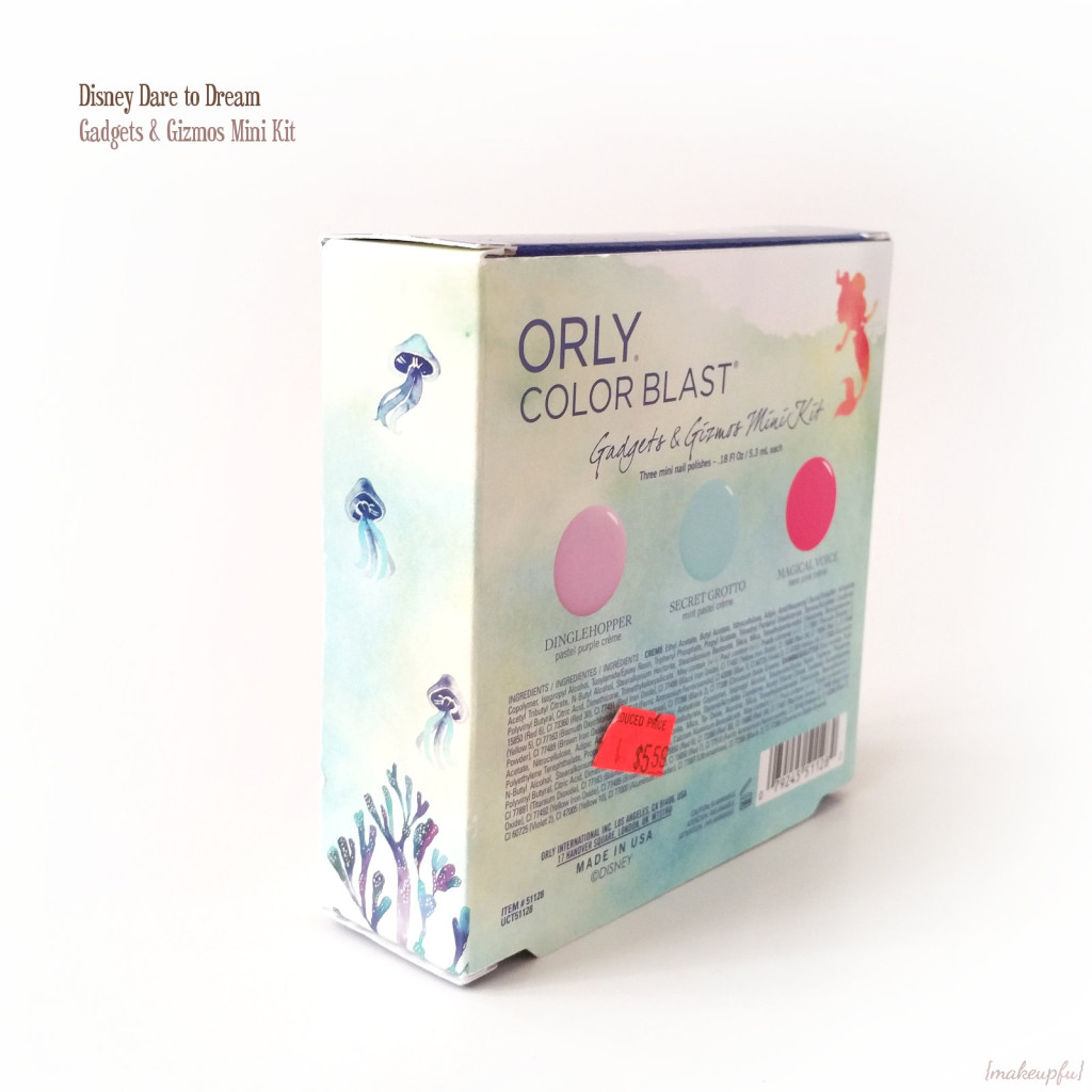 ORLY Disney Dare to Dream Collection: Ariel Gadgets & Gizmos Mini Kit Box