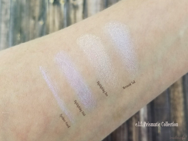 e.l.f. Prismatic Collection Swatches